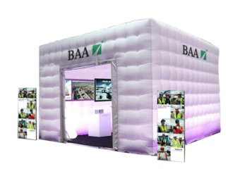 Opblaasbare beurs stand